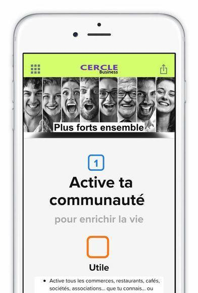 application cercle business 1